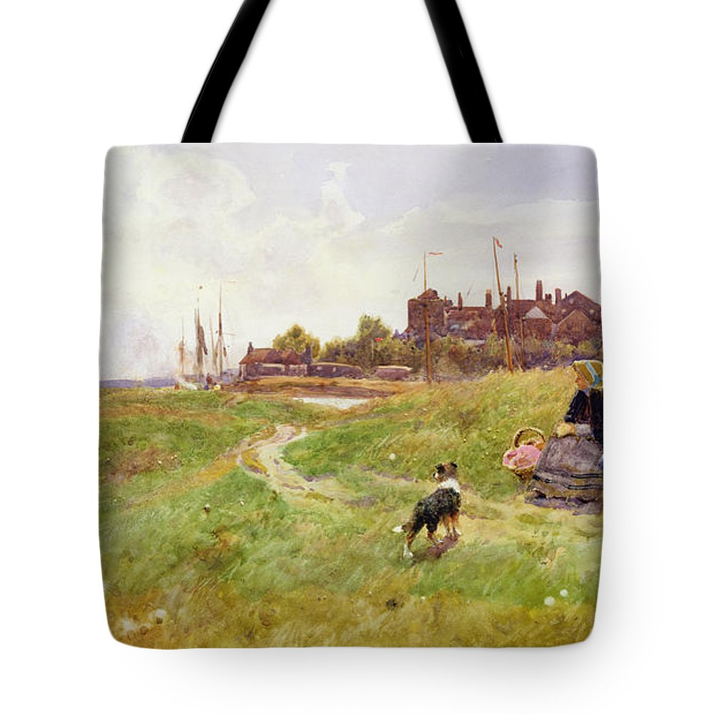 Landscape Tote Bag featuring the painting Hastings by Thomas James Lloyd