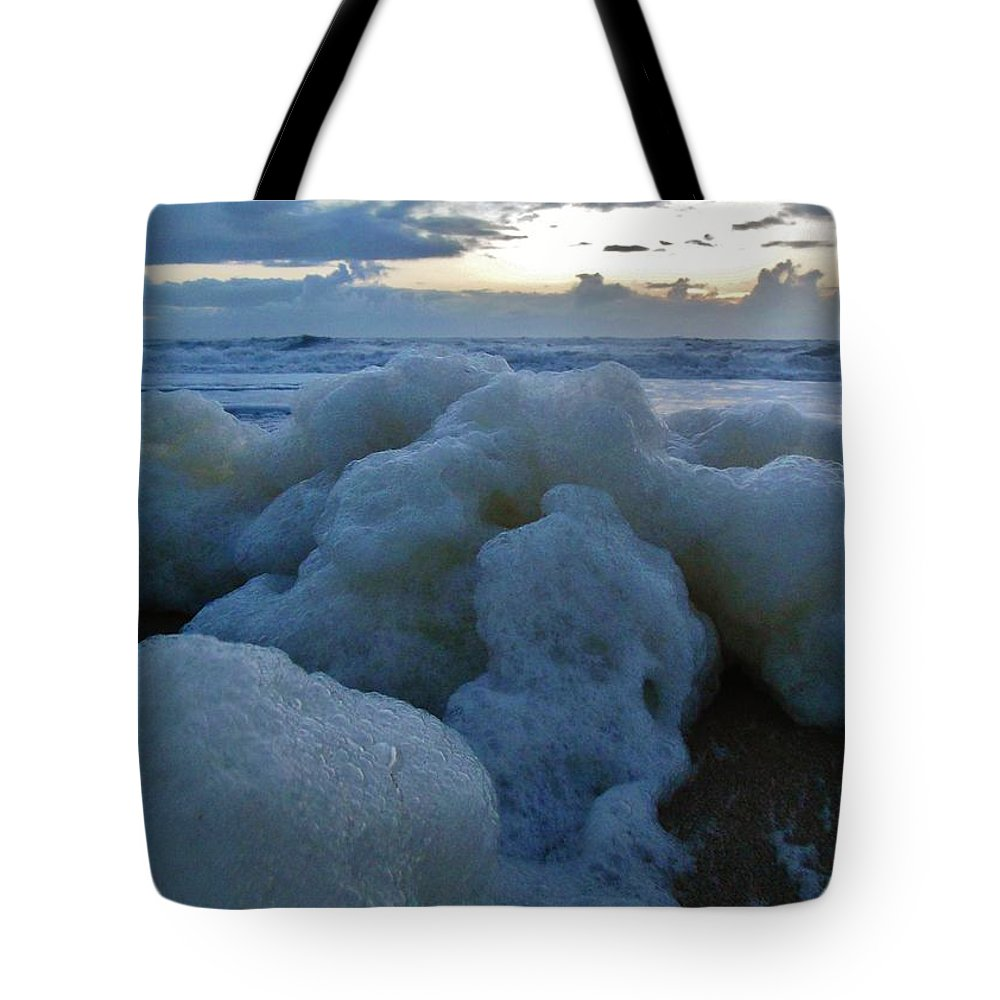 Mark Lemmon Cape Hatteras Nc The Outer Banks Photographer Subjects From Sunrise Tote Bag featuring the photograph Hatteras Island Sunrise 2 10/10 by Mark Lemmon