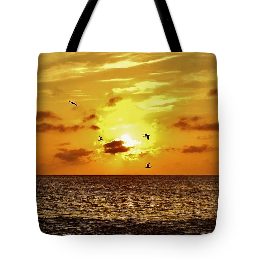 Mark Lemmon Cape Hatteras Nc The Outer Banks Photographer Subjects From Sunrise Tote Bag featuring the photograph Hatteras Island Sunrise 20 9/3 by Mark Lemmon