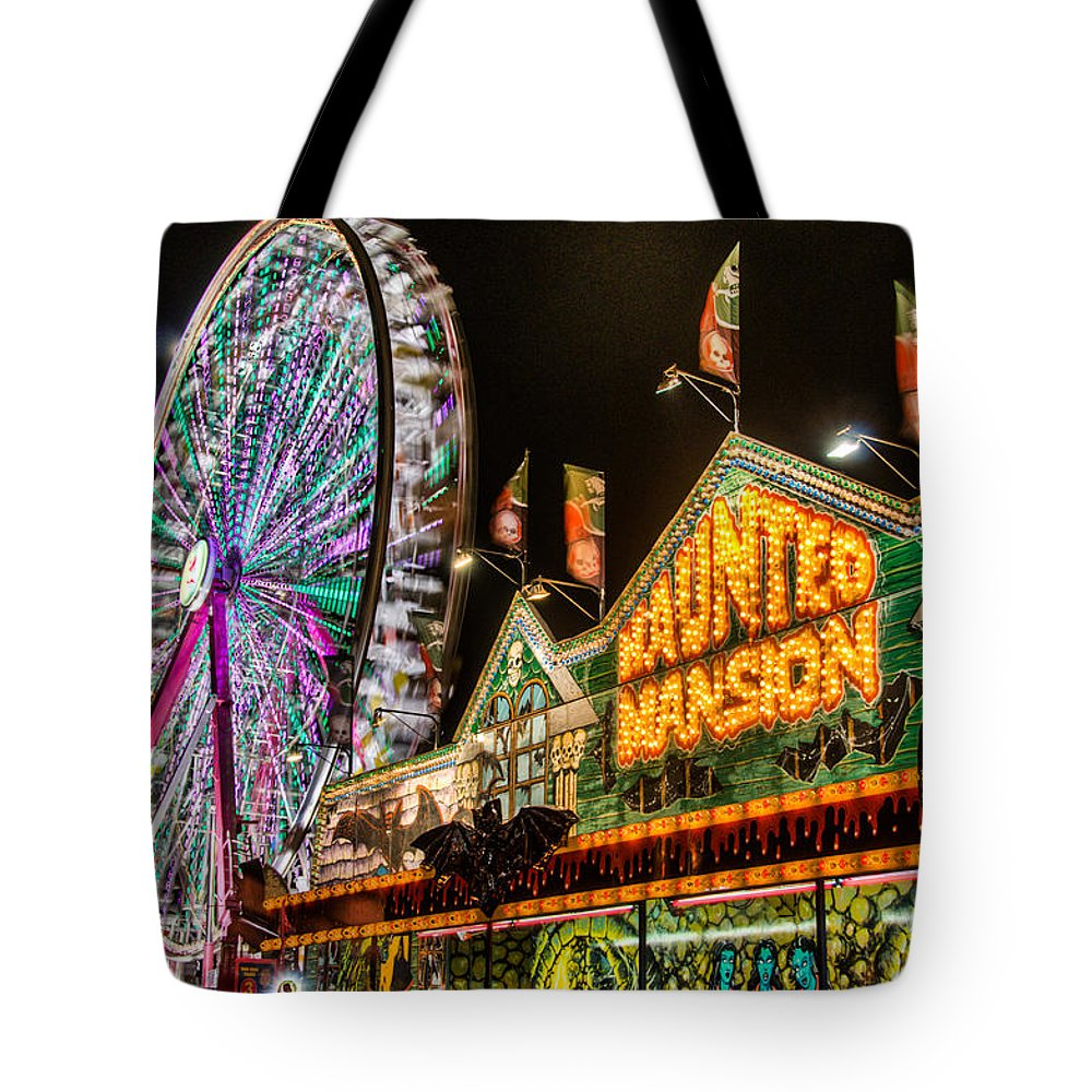 Fair Tote Bag featuring the photograph Haunted Mansion by Randy Walton