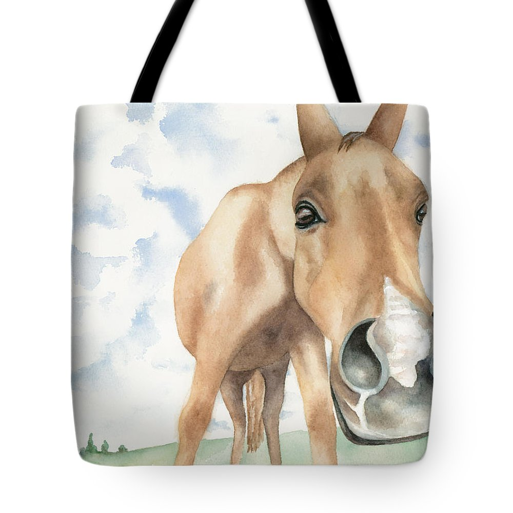 Fine Art Tote Bag featuring the painting Have You Seen My Contact? by Kimberly Lavelle