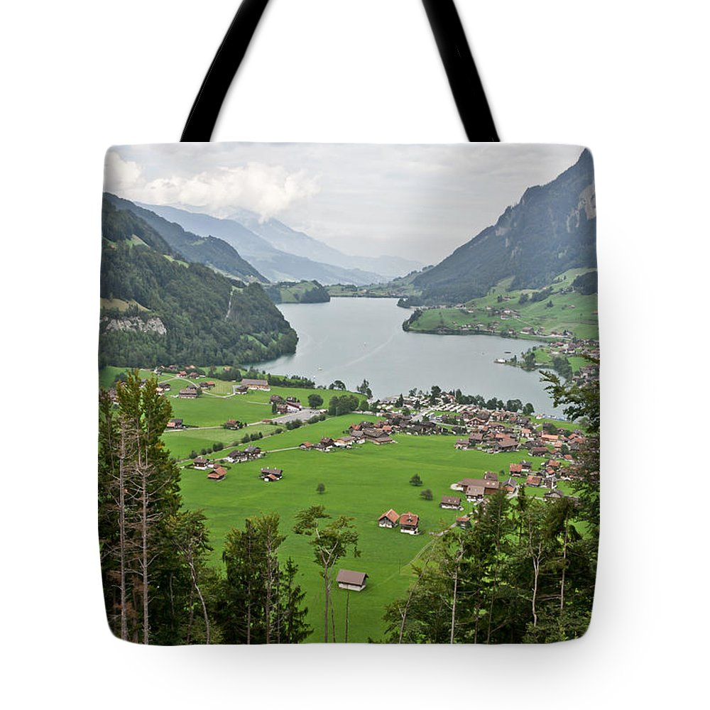 Switzerland Tote Bag featuring the photograph Haven by F Innes - Finesse Fine Art