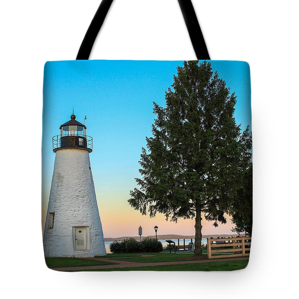 Lighthouse Tote Bag featuring the photograph Concord Point Light ... Havre De Grace Md by Sharon Horn