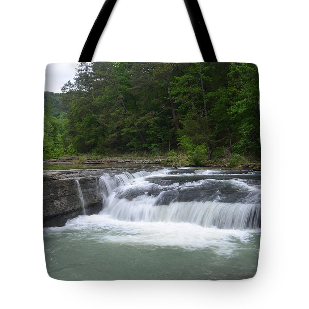 Waterfalls Tote Bag featuring the photograph Haw Creek Falls by Deanna Cagle