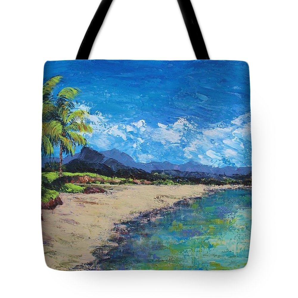 Lovre Tote Bag featuring the painting Hawaii by Eileen Lovre