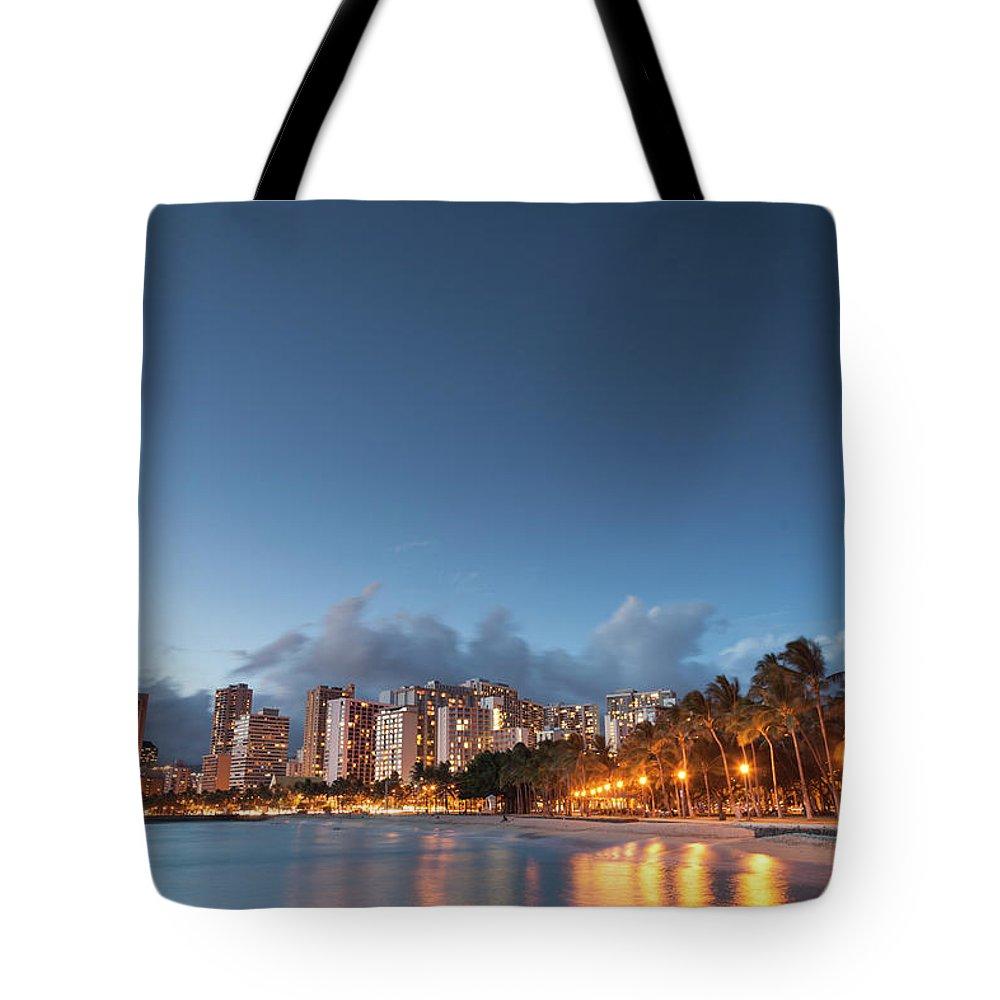 Honolulu Tote Bag featuring the photograph Hawaii, Oahu, Honolulu by Michele Falzone