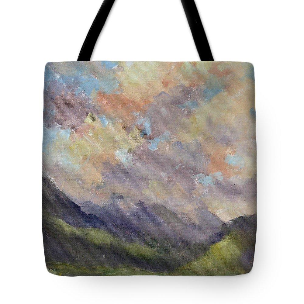 Hawaii Tote Bag featuring the painting Hawaii Sunrise by Karin Leonard