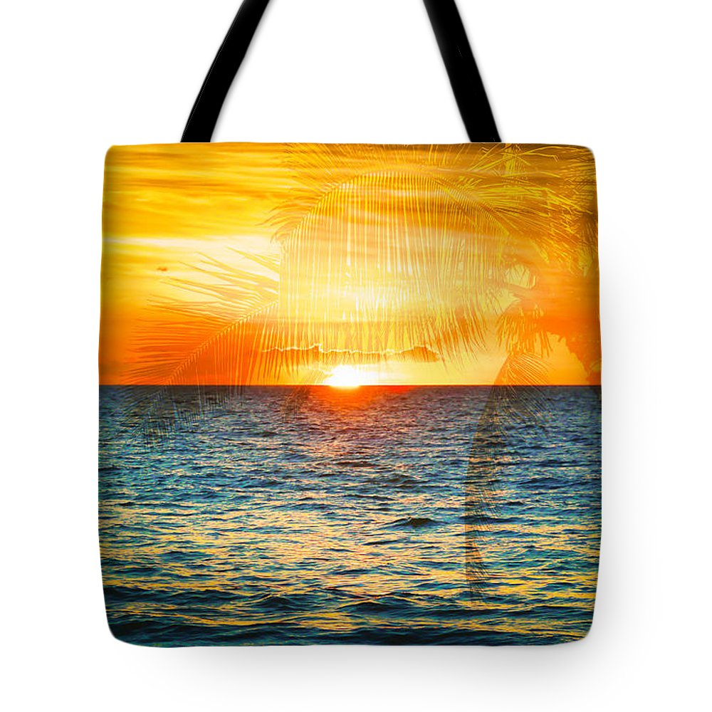 Sunset Tote Bag featuring the photograph Maui Sunset by Athena Mckinzie