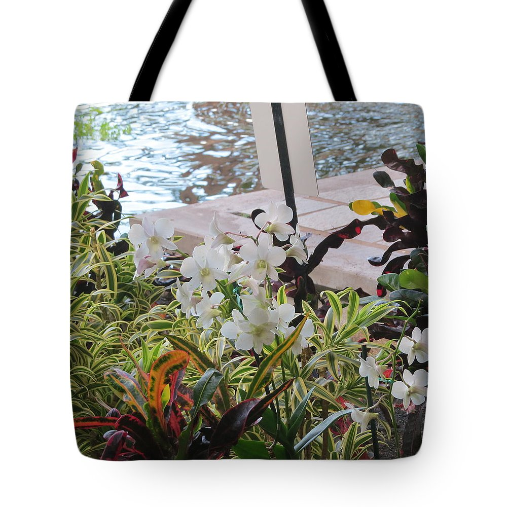 Flower Tote Bag featuring the photograph Hawaiian Garden by Karen Winkfield