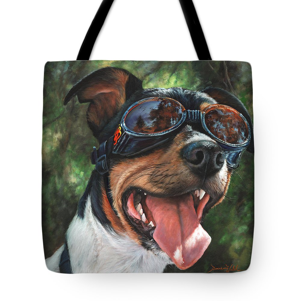Dog Tote Bag featuring the painting Hawg Dawg by Donna Hillman Walsh