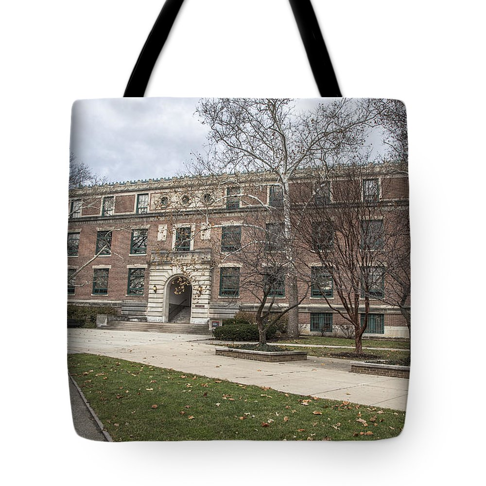 Ohio State University Tote Bag featuring the photograph Hayes Hall Osu by John McGraw