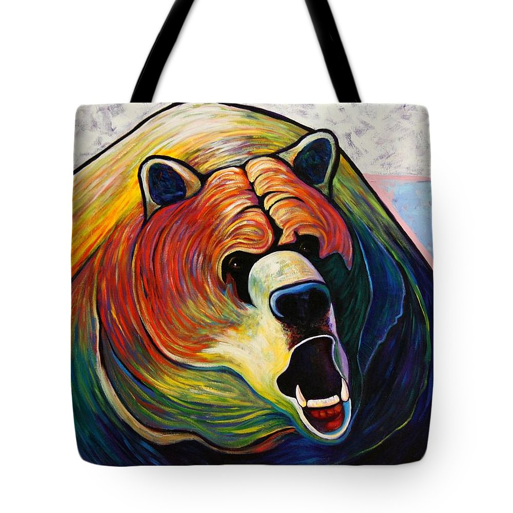 Wildlife Tote Bag featuring the painting He Who Greets With Fire by Joe Triano