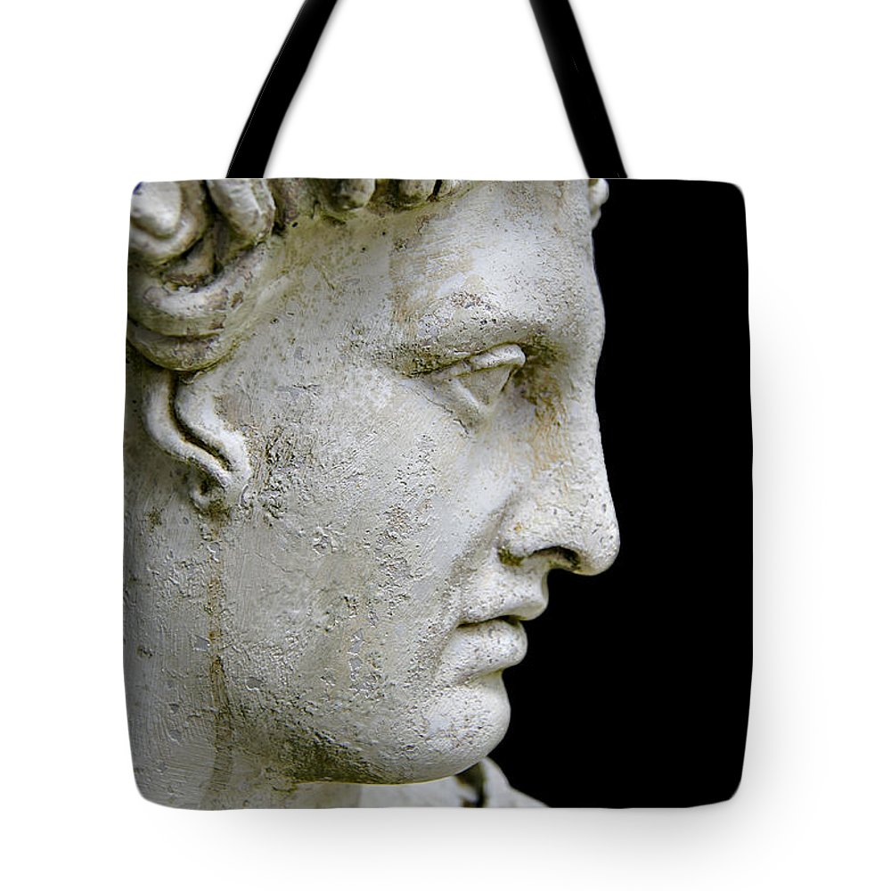 Head Tote Bag featuring the photograph Head by Ben Yassa