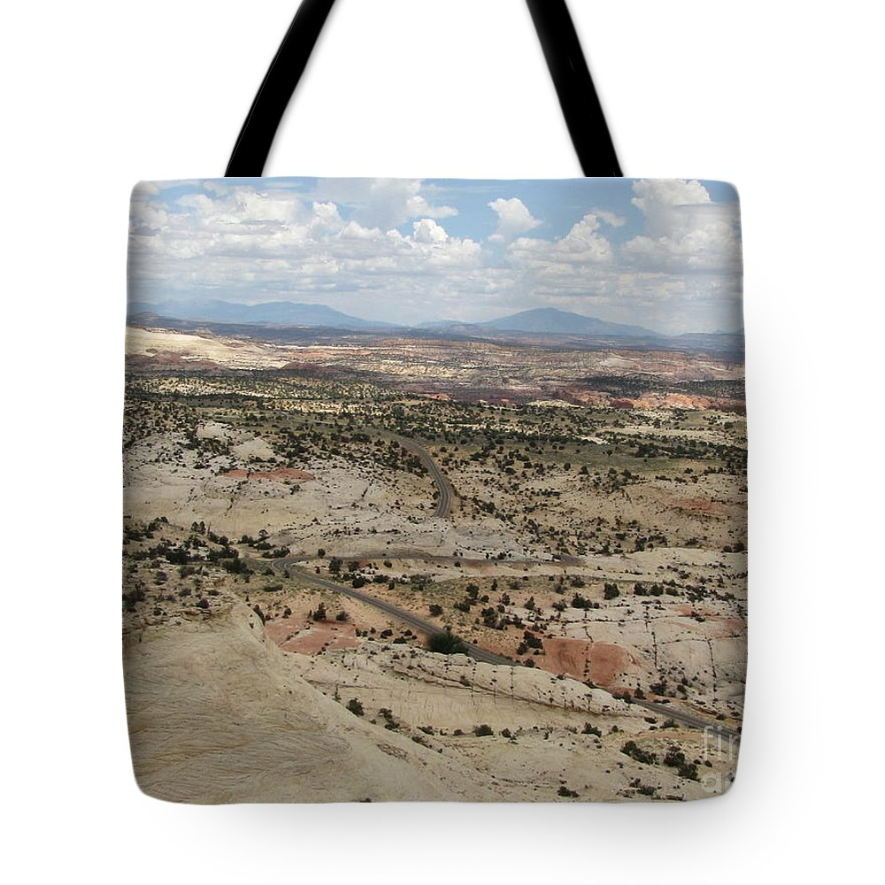 Utah Tote Bag featuring the photograph Head Of The Rocks Overlook - Utah's Scenic Byway 12 by Sheryl Young