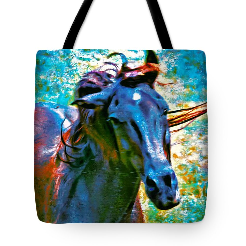 Horse Tote Bag featuring the photograph Headshaker by Alice Gipson