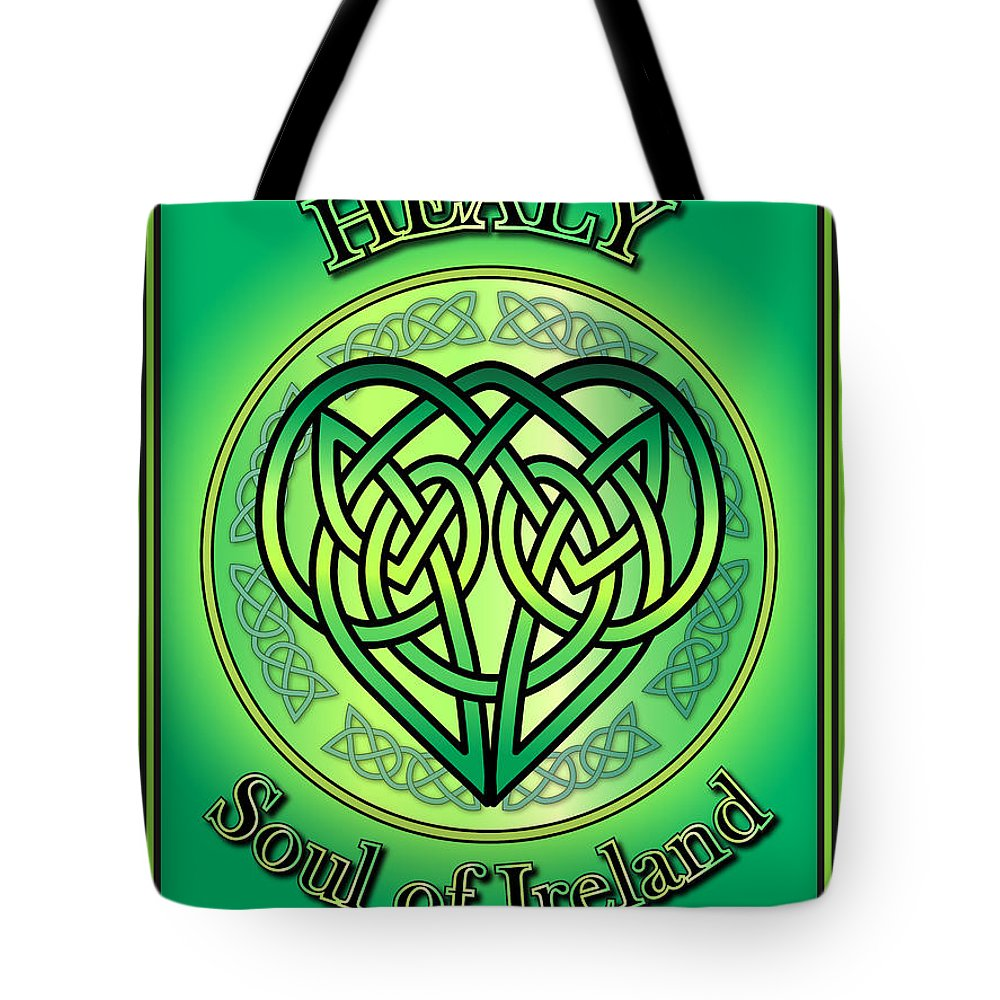 Healy Tote Bag featuring the digital art Healy Soul Of Ireland by Ireland Calling