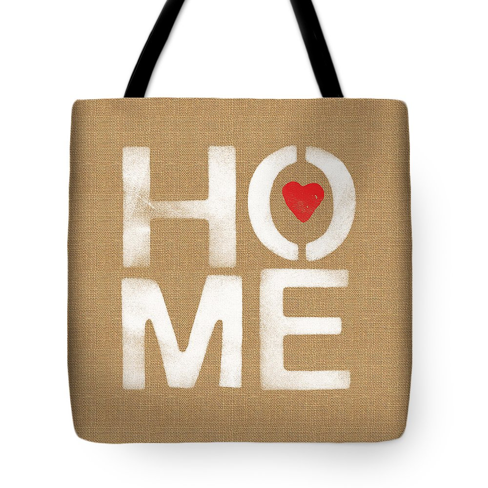 Home Tote Bag featuring the painting Heart And Home by Linda Woods