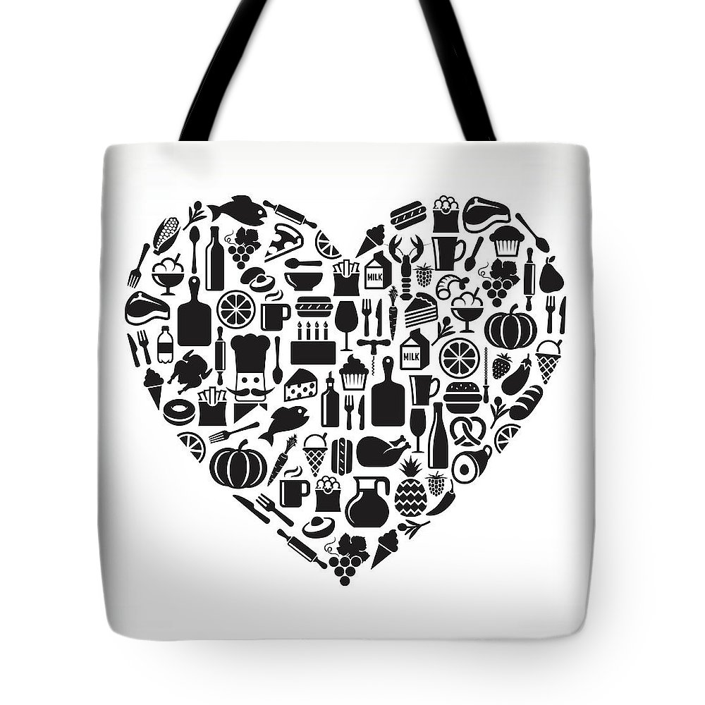 Chicken Meat Tote Bag featuring the digital art Heart Food & Drink Royalty Free Vector by Bubaone