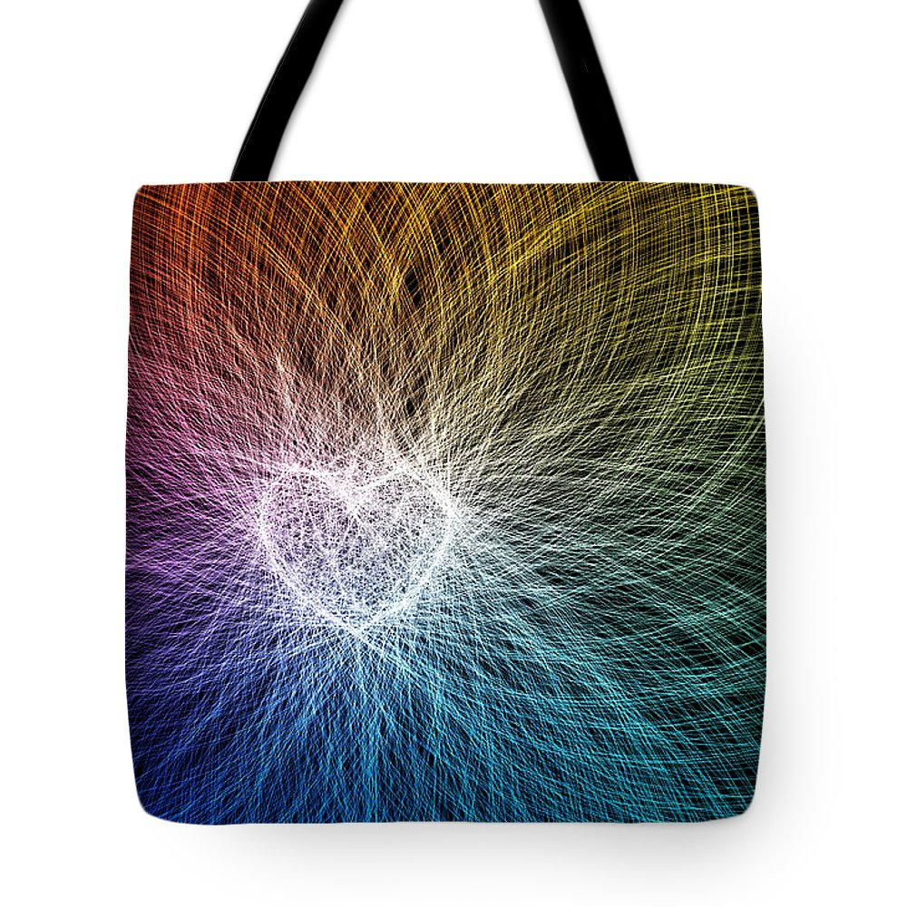Heart Tote Bag featuring the digital art Heart Light by Raul Castillo