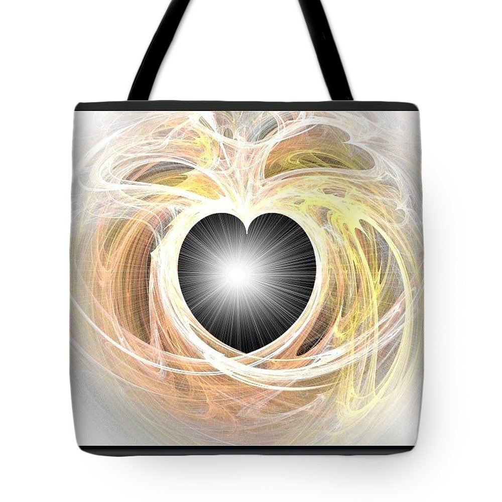 Heart N Soul Fractal Tote Bag featuring the photograph Heart N Soul Fractal by Maria Urso