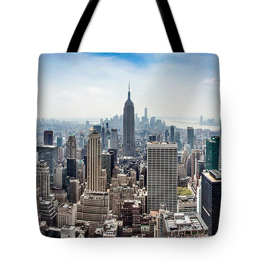 Empire State Building Tote Bag featuring the photograph Heart Of An Empire by Az Jackson