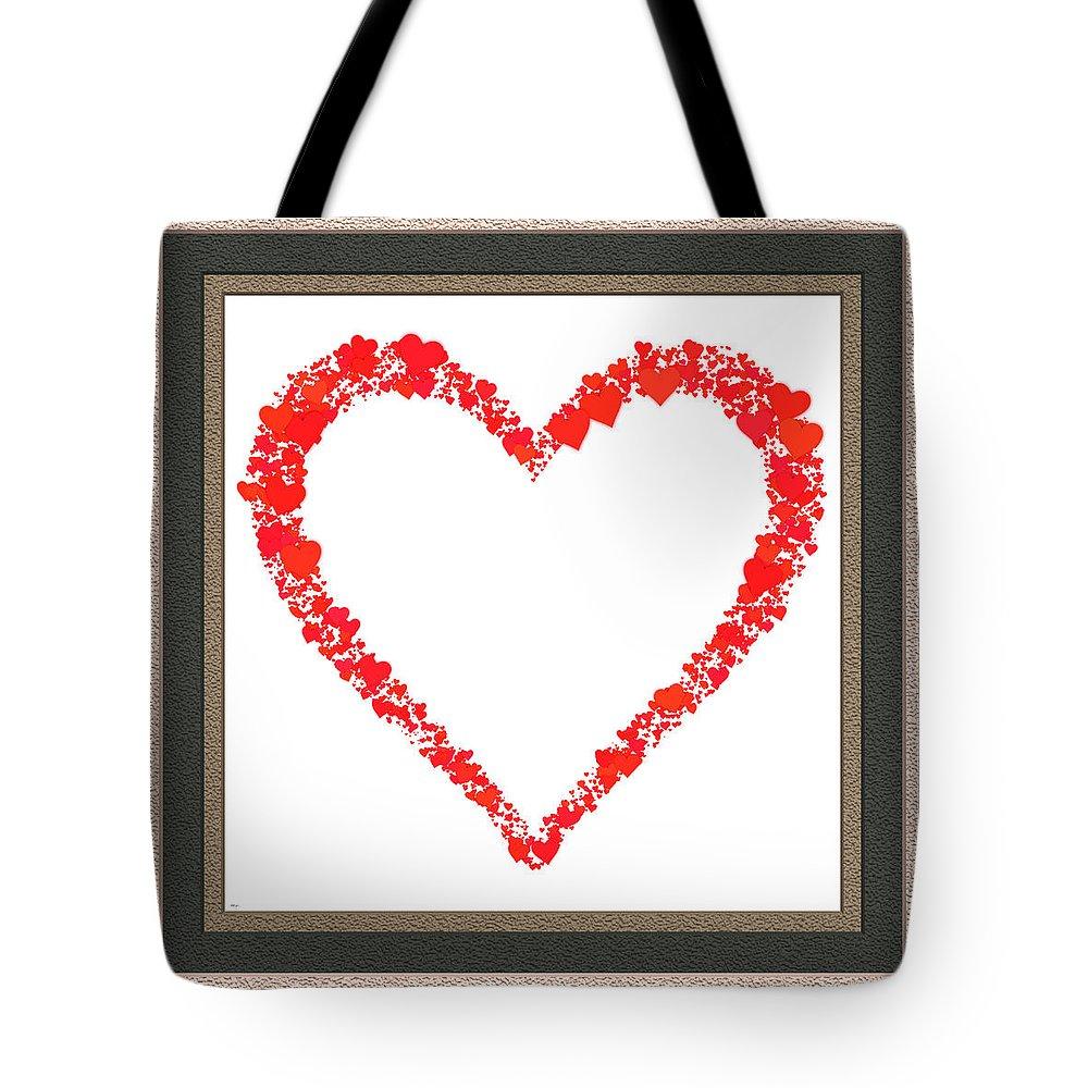 Valentine Tote Bag featuring the digital art Heart Of Hearts II... by Tim Fillingim