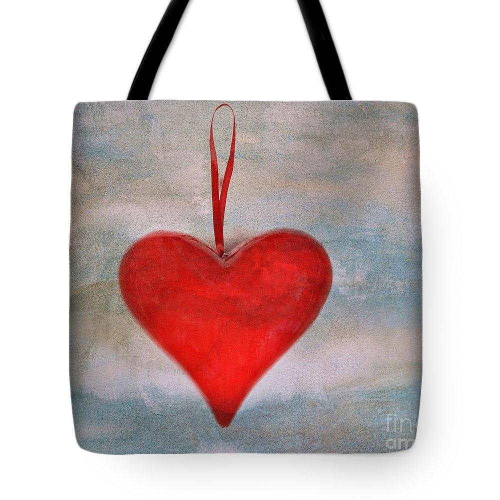Love Tote Bag featuring the photograph Heart Shape Textured by Bernard Jaubert