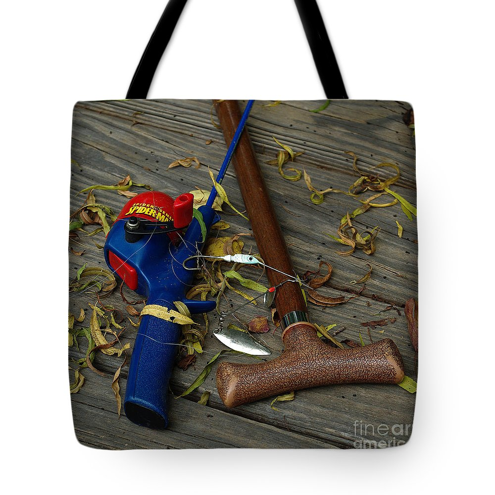 Angling Tote Bag featuring the photograph Heart Strings by Peter Piatt