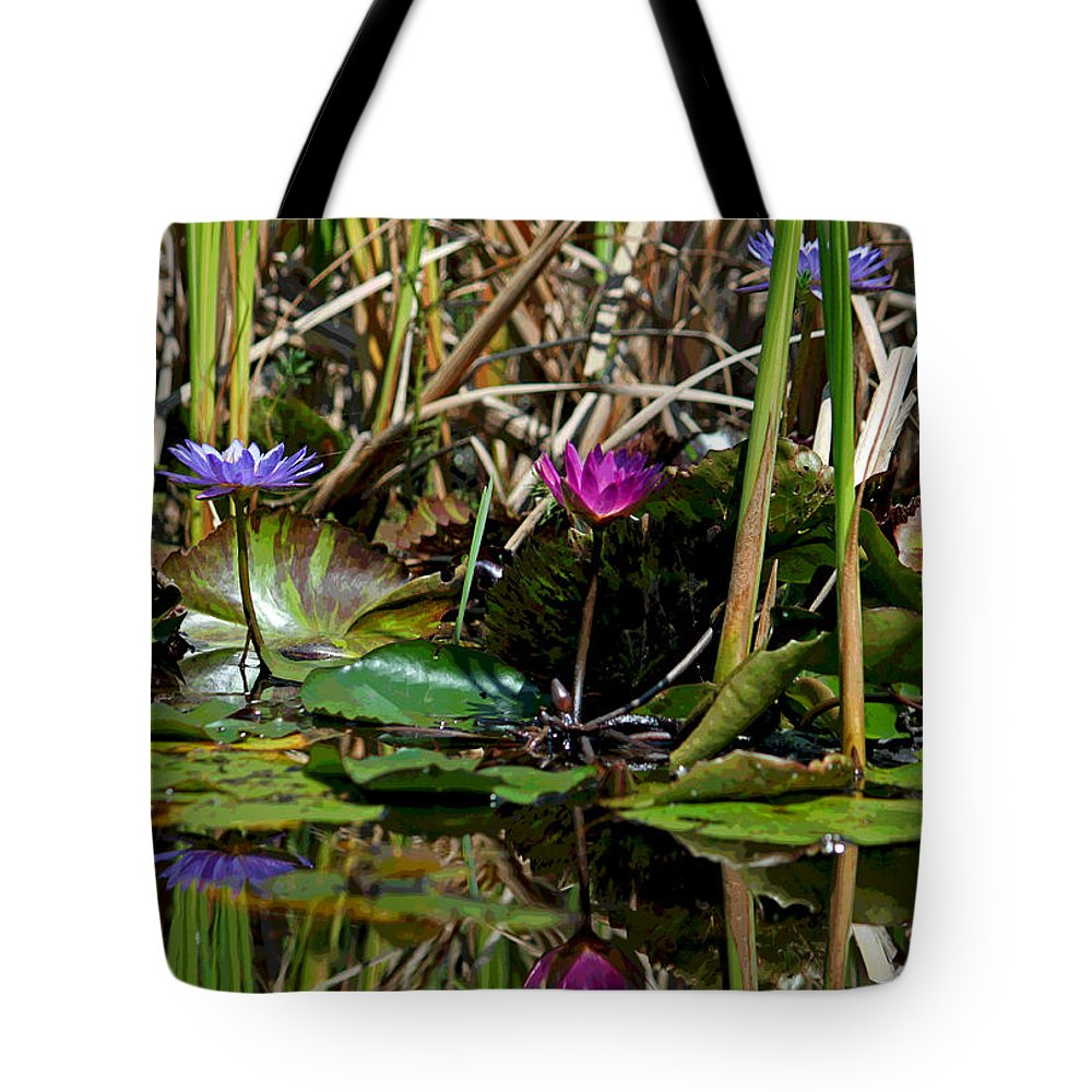 Photograph Tote Bag featuring the photograph Heat Of The Afternoon - Down At The Lily Pond Iv by Suzanne Gaff