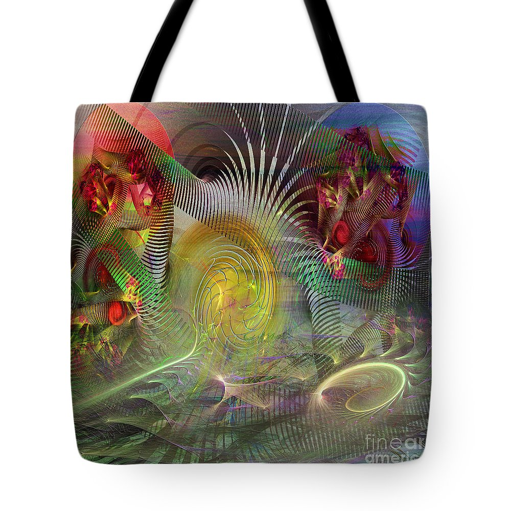 Heat Tote Bag featuring the digital art Heat Wave - Square Version by John Beck