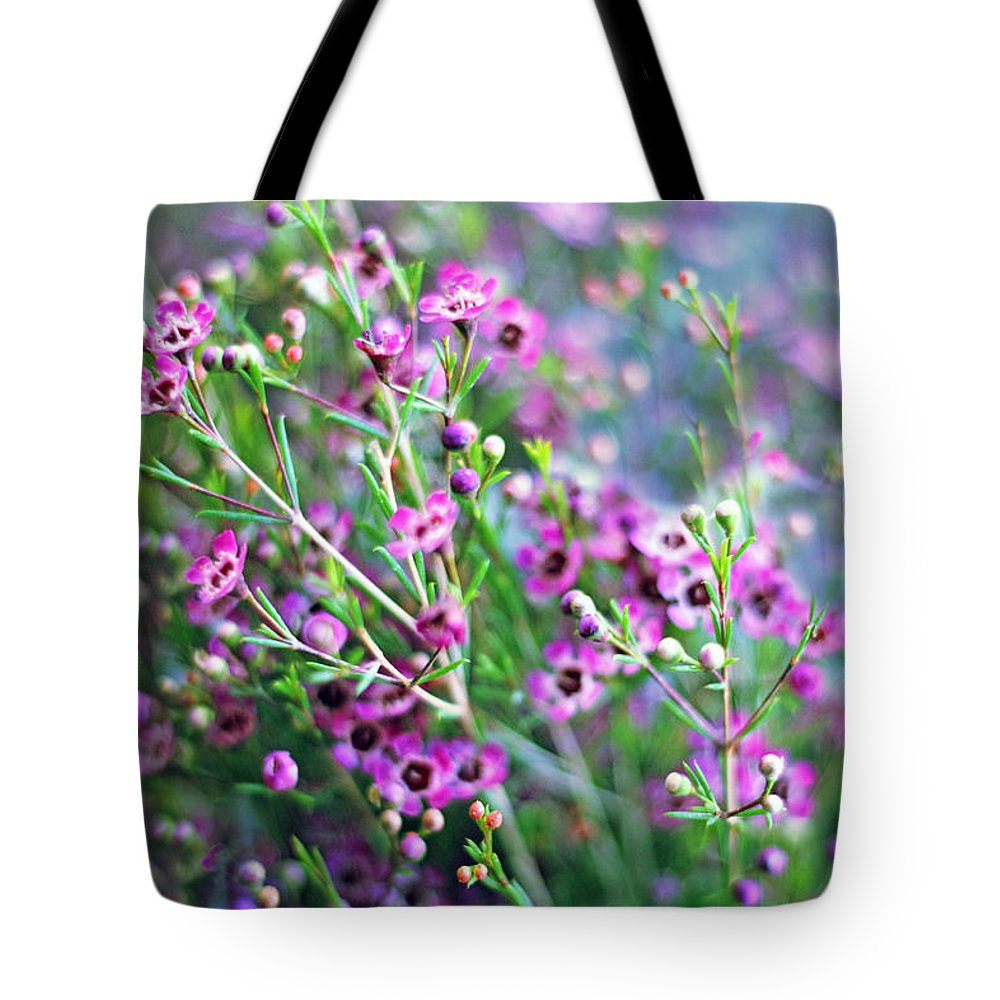 Spring Tote Bag featuring the photograph Heather by Jessica Jenney
