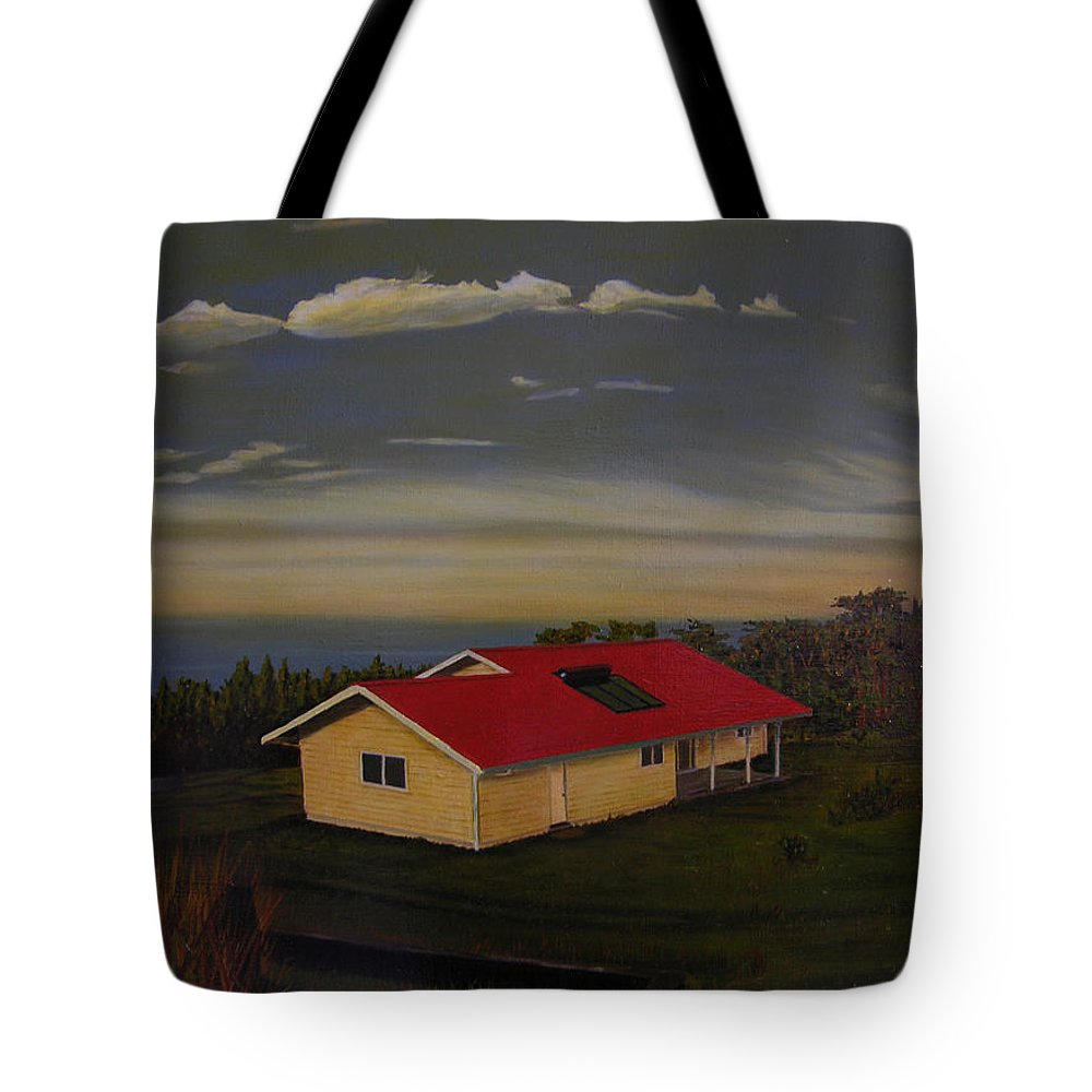 Hawaii Landscape Tote Bag featuring the painting Heaven On Earth by Thu Nguyen