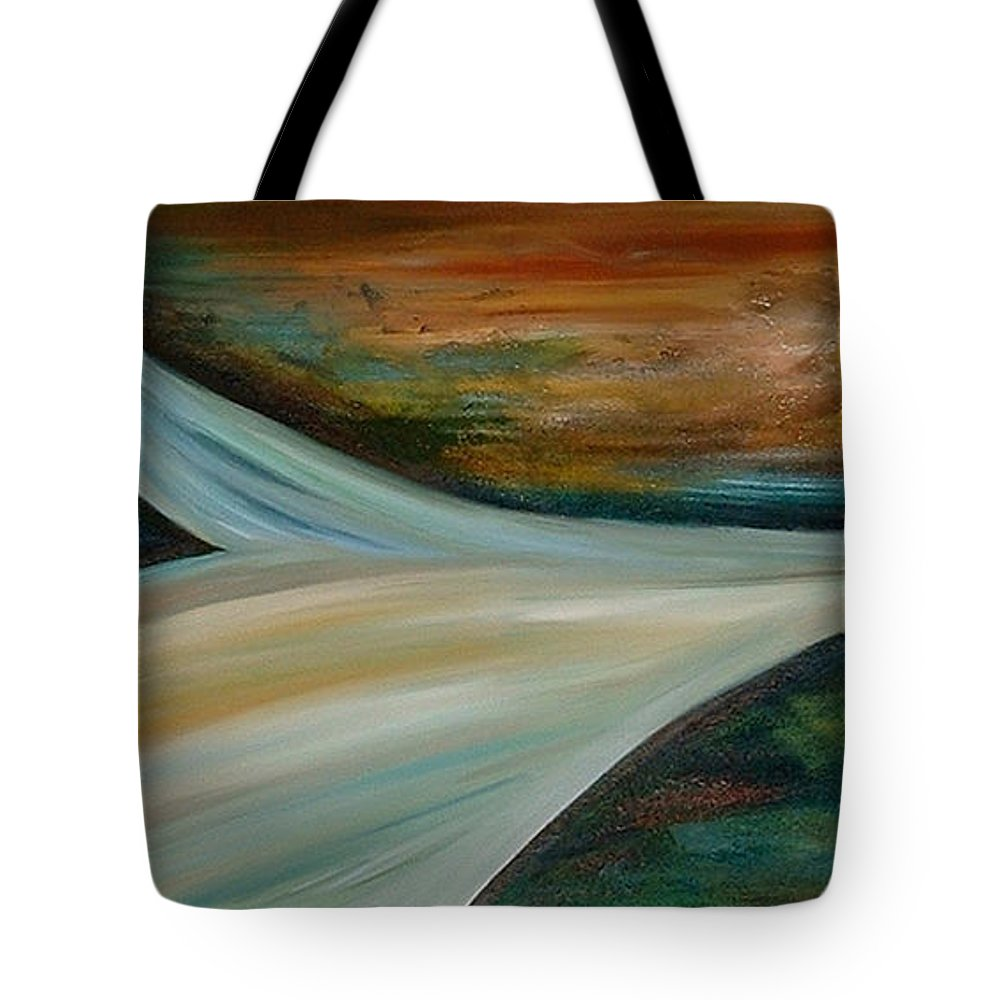 Abstract Tote Bag featuring the painting Heaven by Silvana Abel