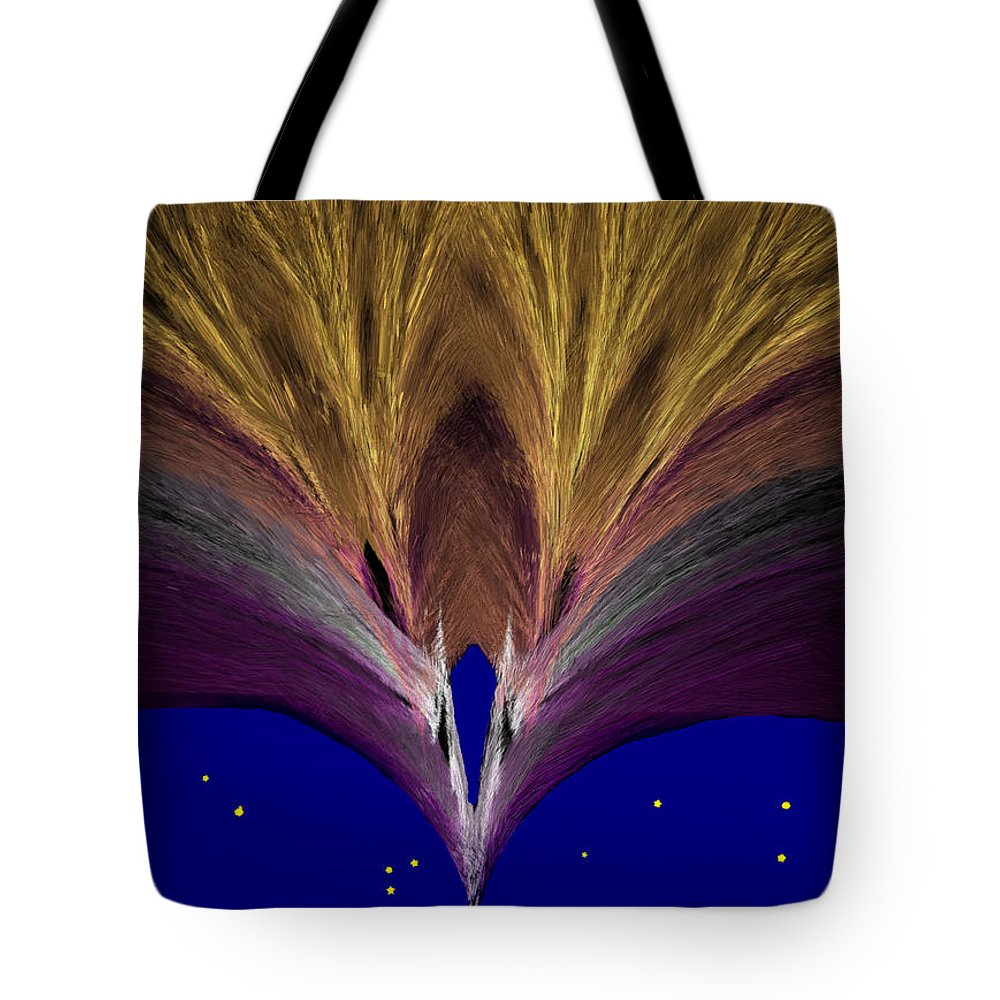 Gold Tote Bag featuring the painting Heavenly Archway by Bruce Nutting