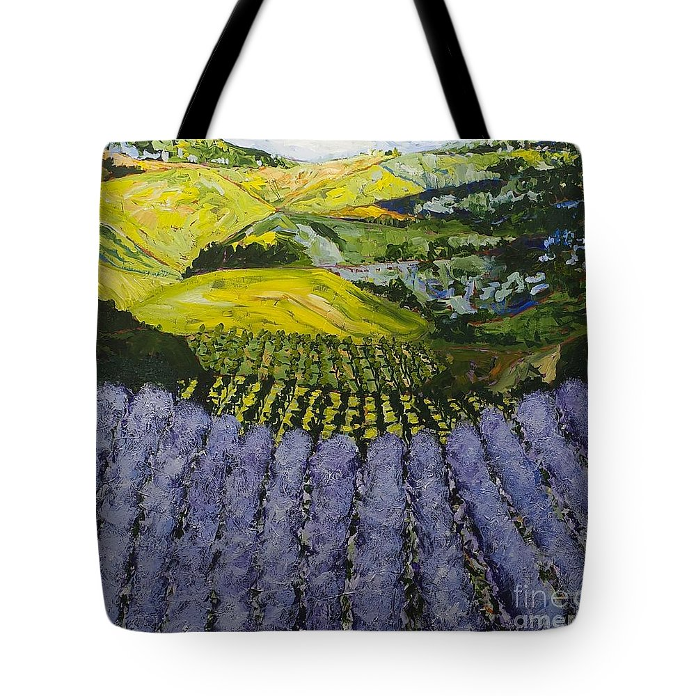 Landscape Tote Bag featuring the painting Heavenly Valley by Allan P Friedlander
