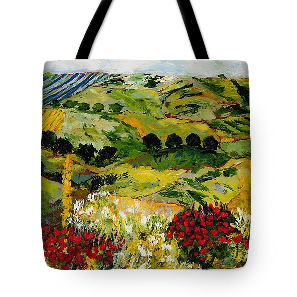 Landscape Tote Bag featuring the painting Heavenly View by Allan P Friedlander