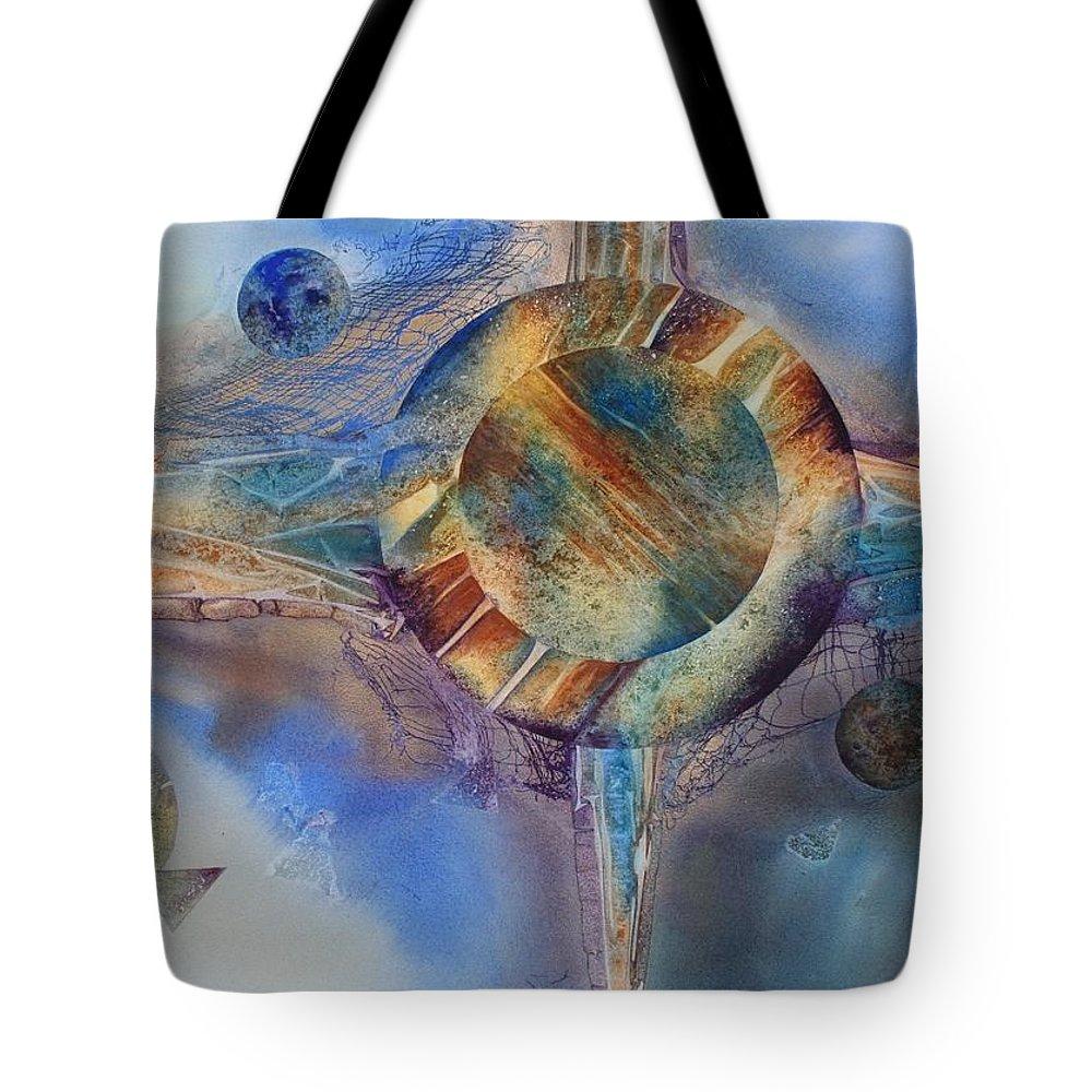 Spiritual Tote Bag featuring the painting Heavens Gate by Tara Moorman