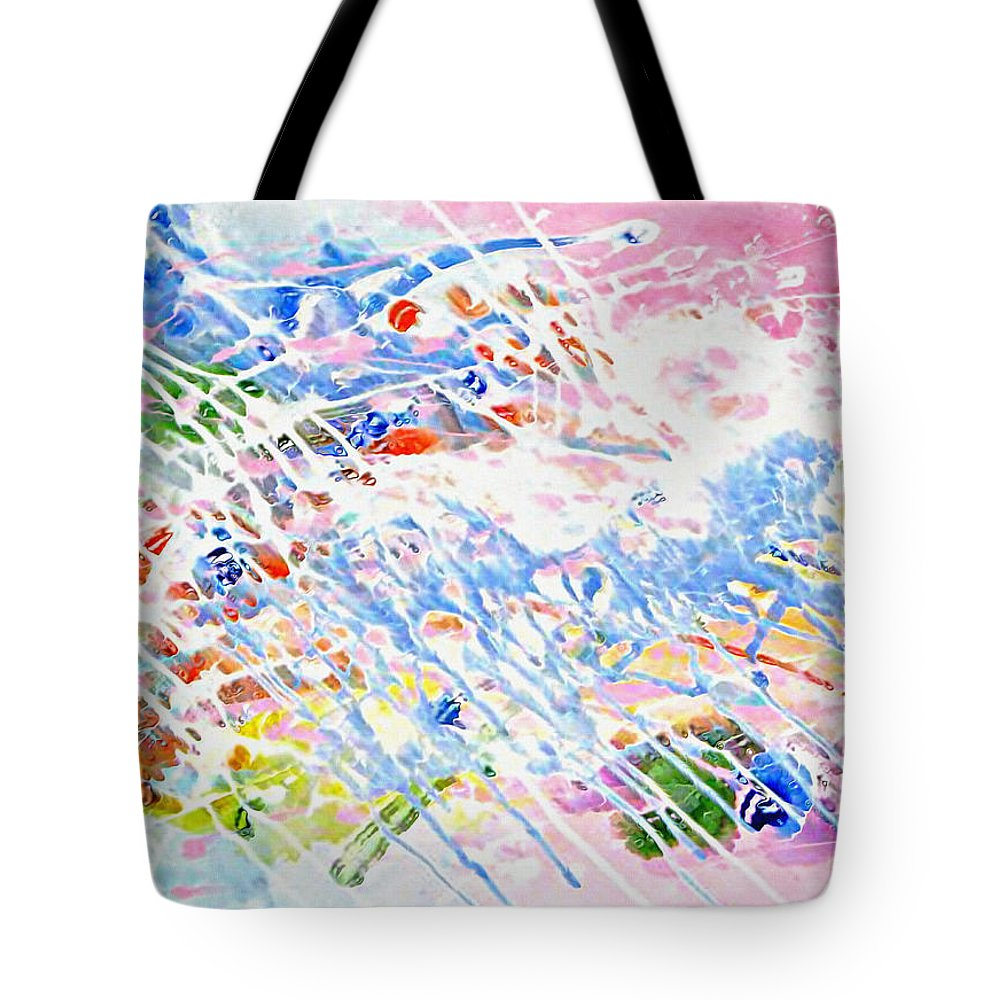 Heaven's Music Tote Bag featuring the mixed media Heaven's Music by Kume Bryant