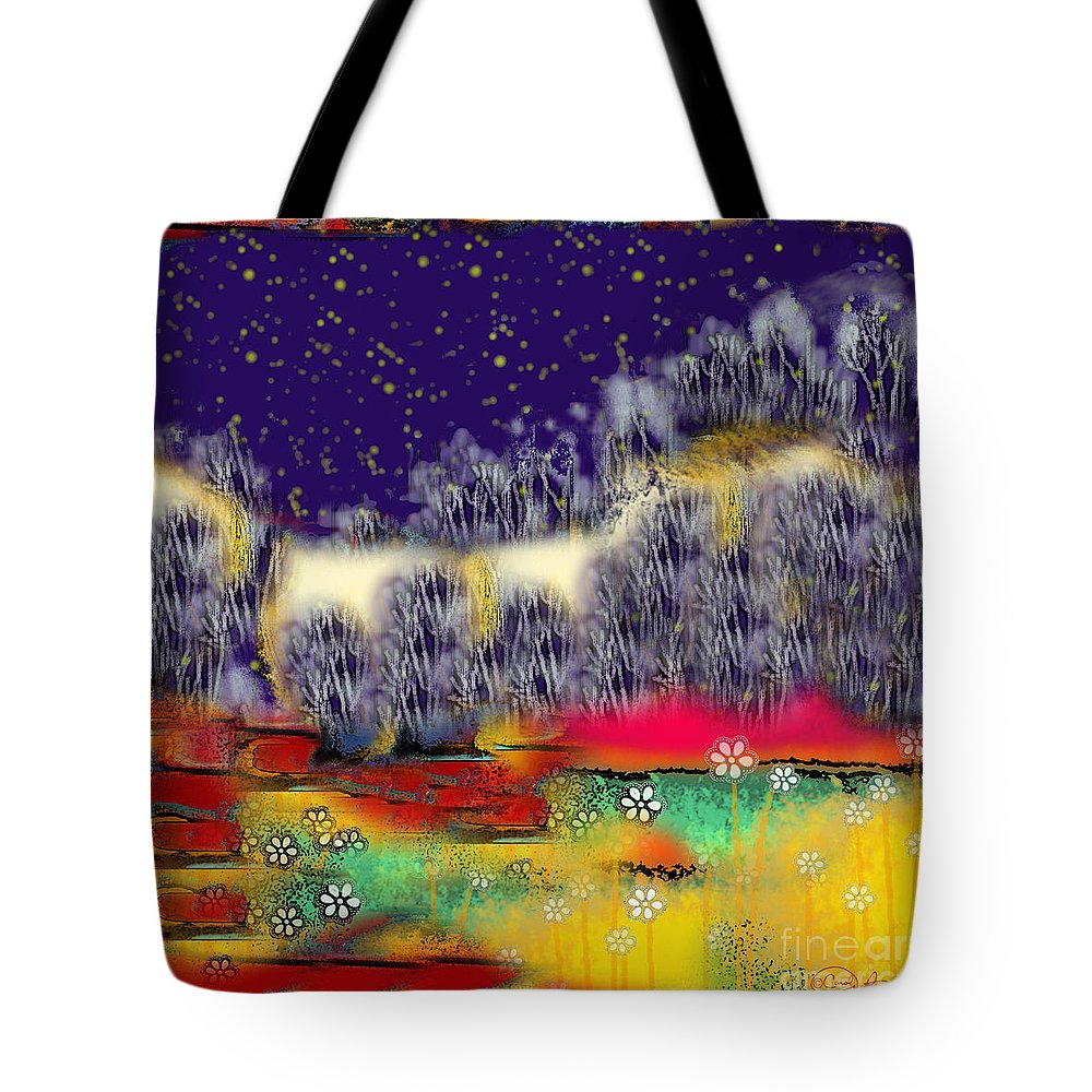 Heaven Tote Bag featuring the digital art Heaven's Pavement by Carol Jacobs