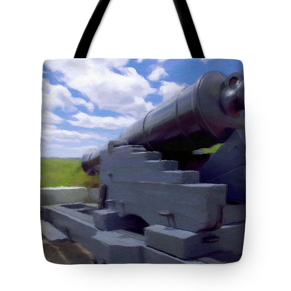 Canadian Tote Bag featuring the painting Heavy Artillery by Jeffrey Kolker
