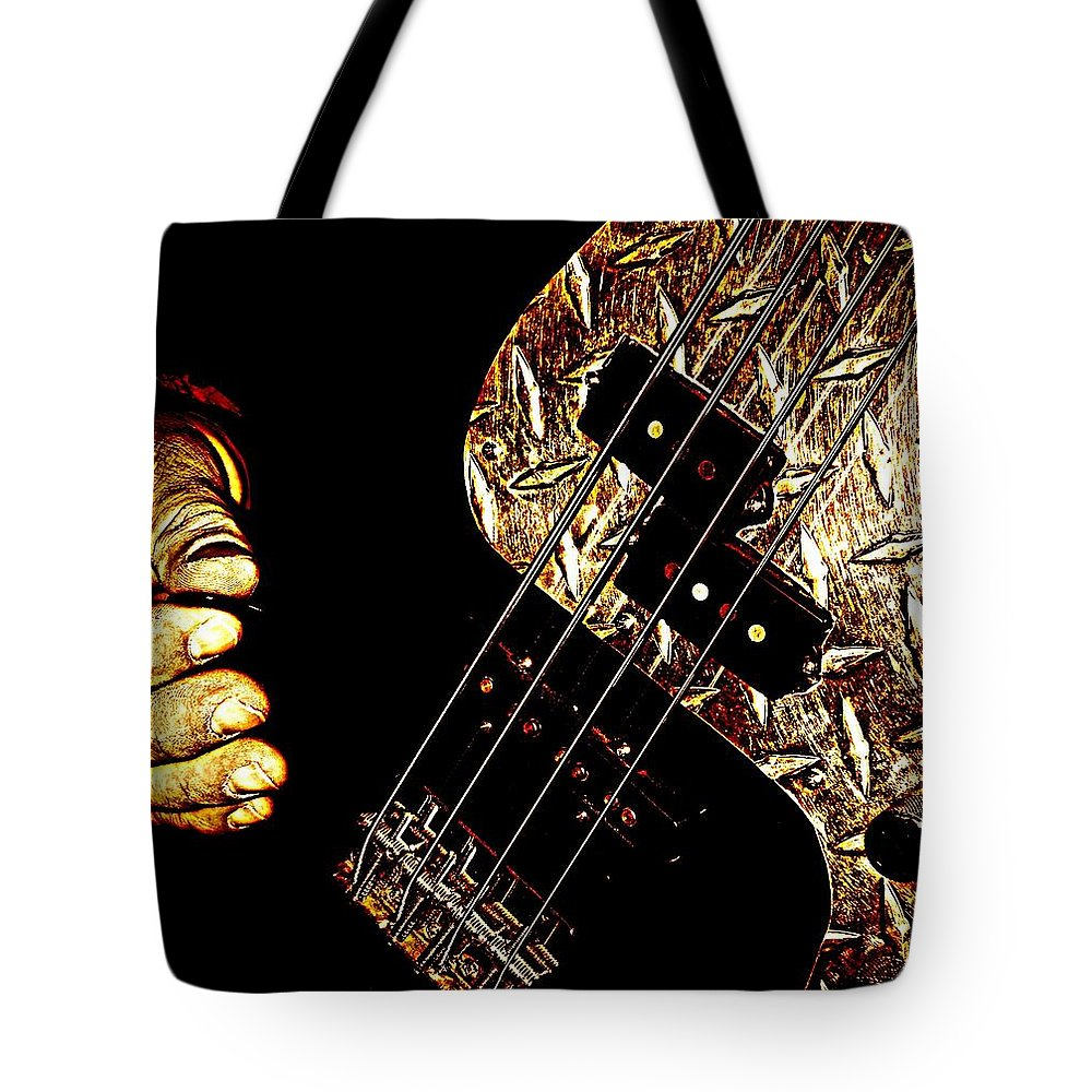 Music Tote Bag featuring the photograph Heavy Metal Bass by Chris Berry