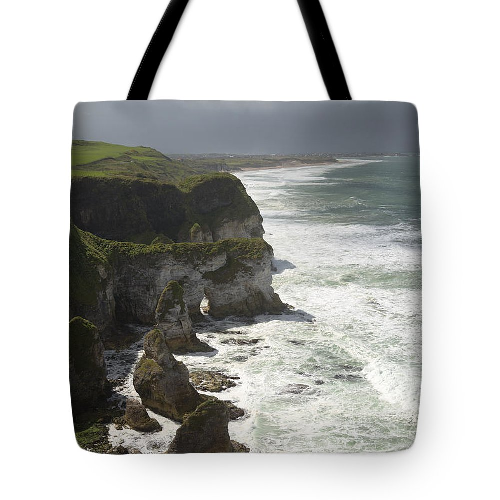 Horizontal Tote Bag featuring the photograph Heavy Surf On The Irish Coast by Patrick McGill