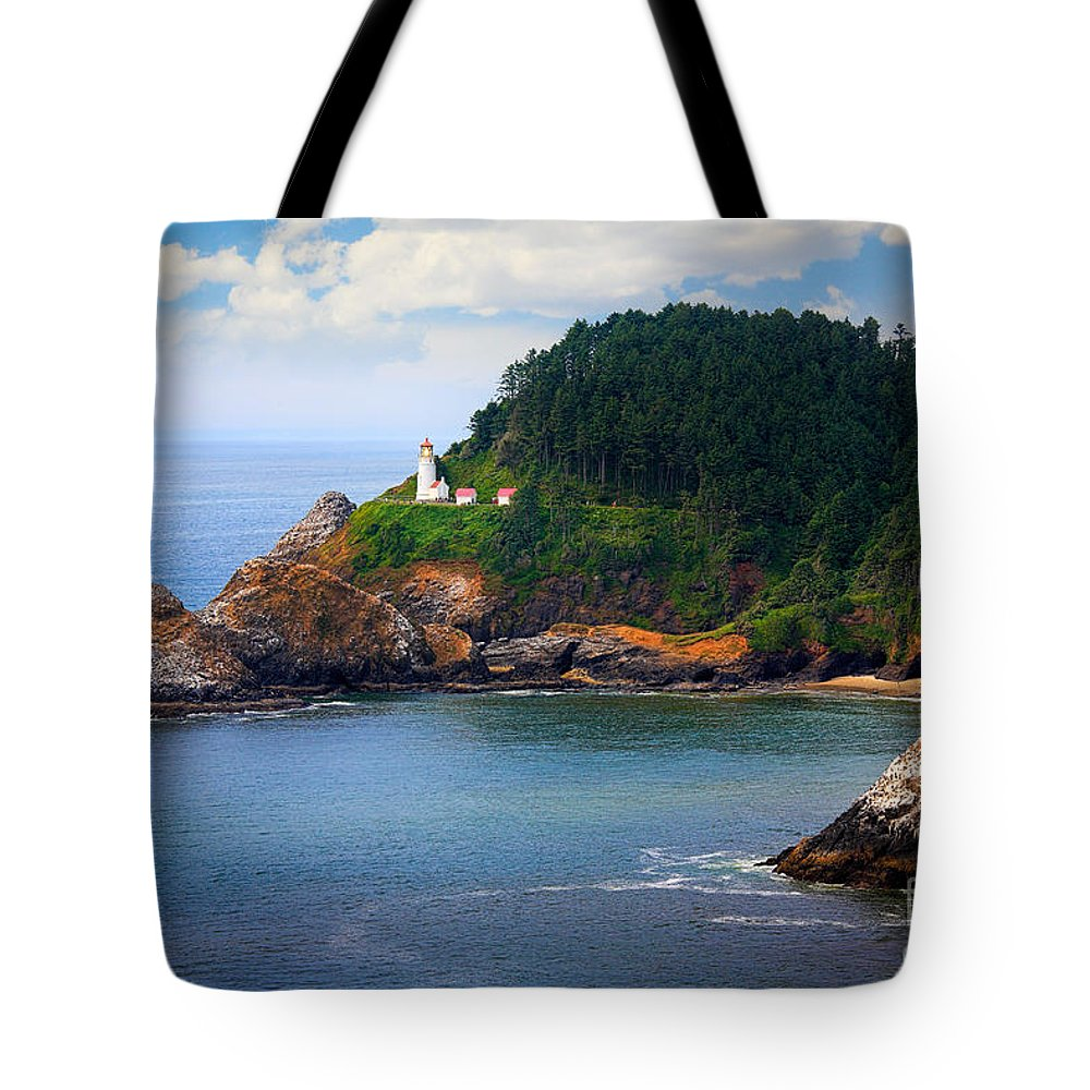 America Tote Bag featuring the photograph Heceta Head by Inge Johnsson