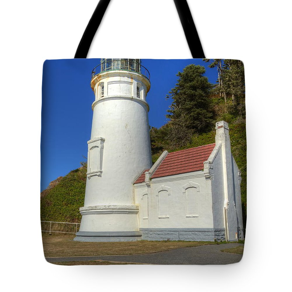Heceta Tote Bag featuring the photograph Heceta Head Lighthouse 1 C by John Brueske