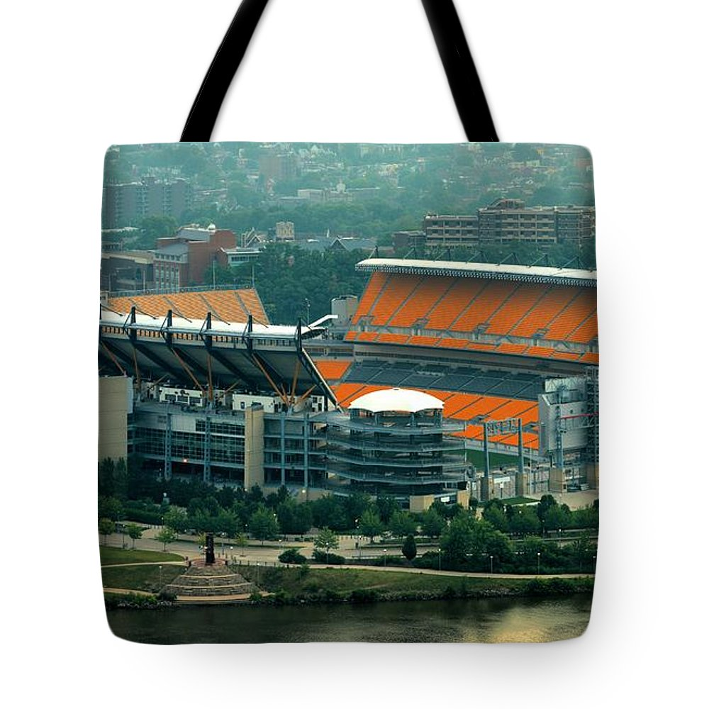 Heinz Field Tote Bag featuring the photograph Heinz Field by Adam Jewell
