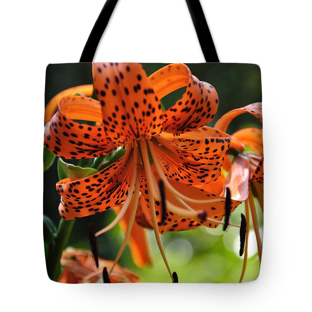 Tigerlily Tote Bag featuring the photograph Heirloom Beauty by Sonja Dover