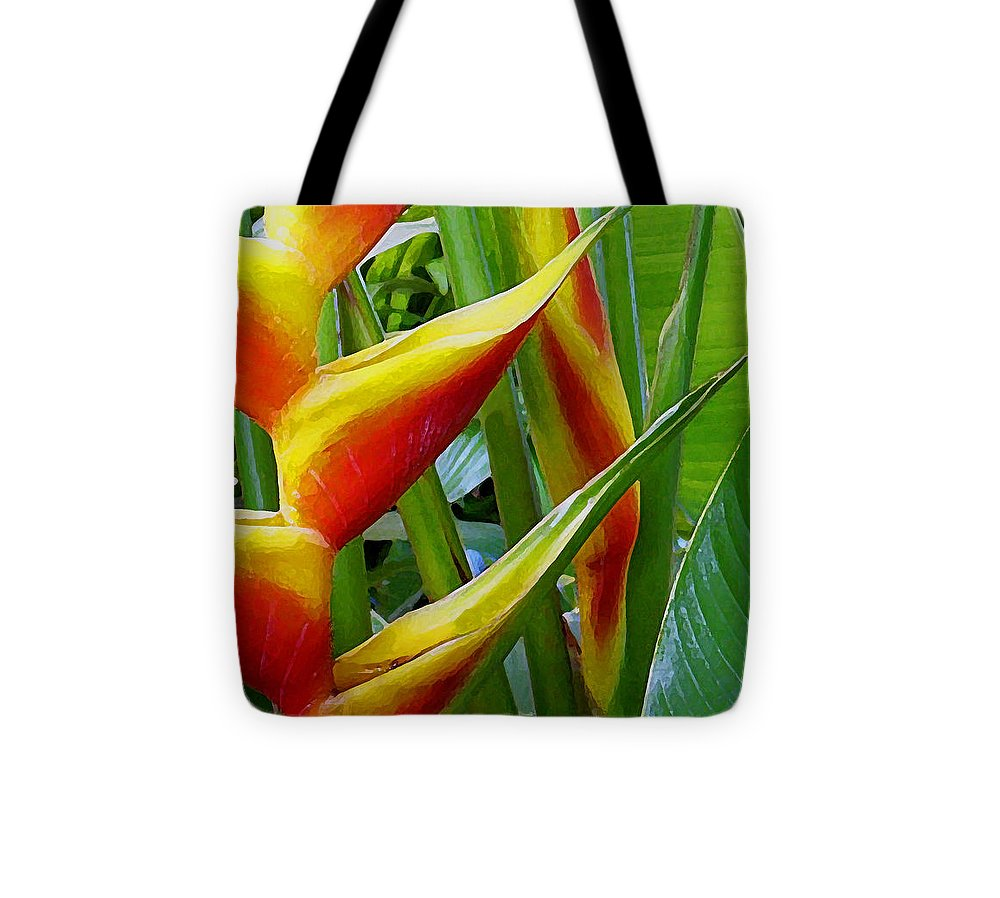 Heliconia Tote Bag featuring the photograph Heliconia Bihai Kamehameha by James Temple
