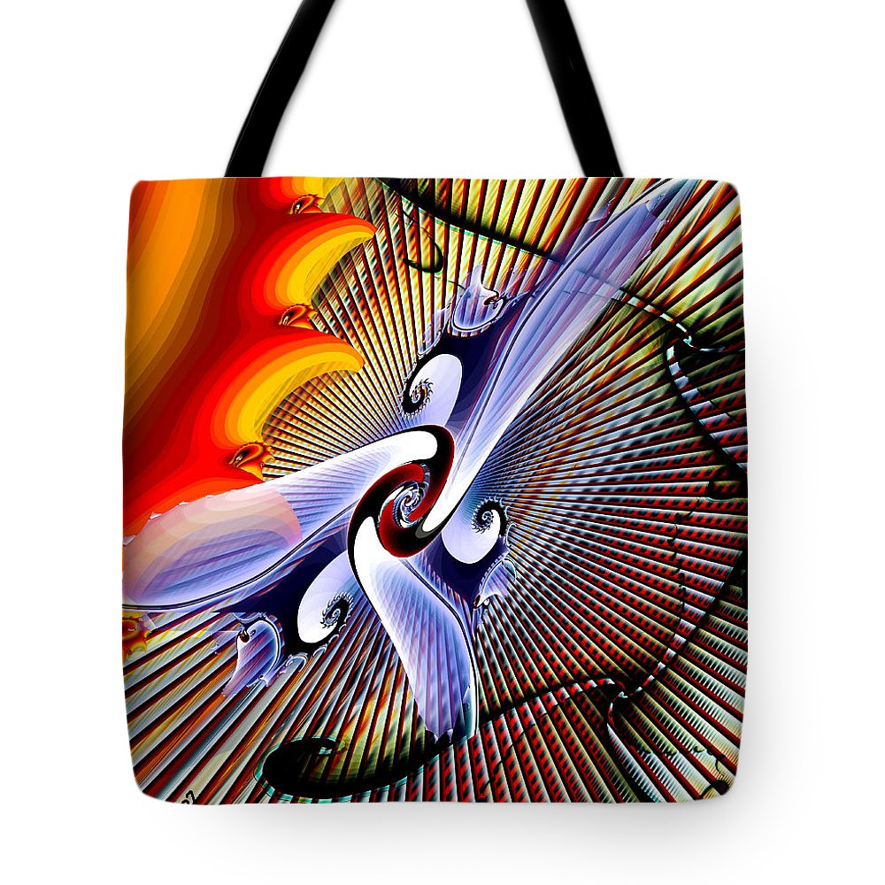 Helios Tote Bag featuring the digital art Helios by Kimberly Hansen
