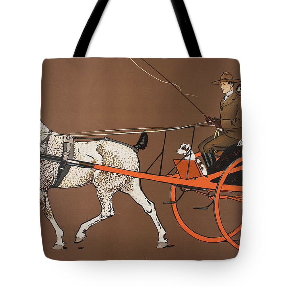 Edward Penfield Tote Bag featuring the drawing Heller And Bachrach by Edward Penfield
