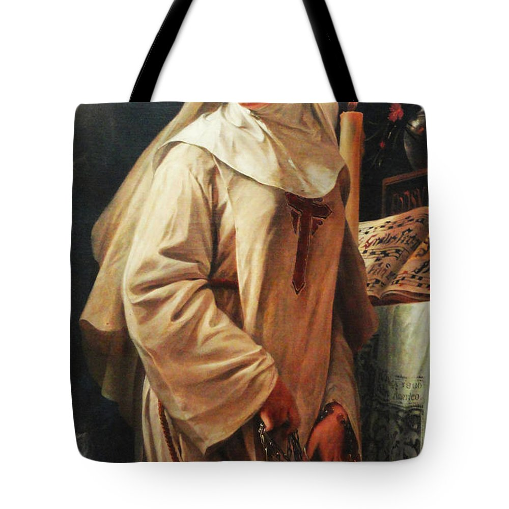 Pedro Americo Tote Bag featuring the digital art Heloisas Vow by Pedro Americo